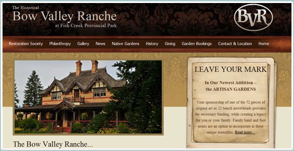 Bow Valley Ranche Website Design