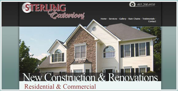 Sterling Exteriors website
